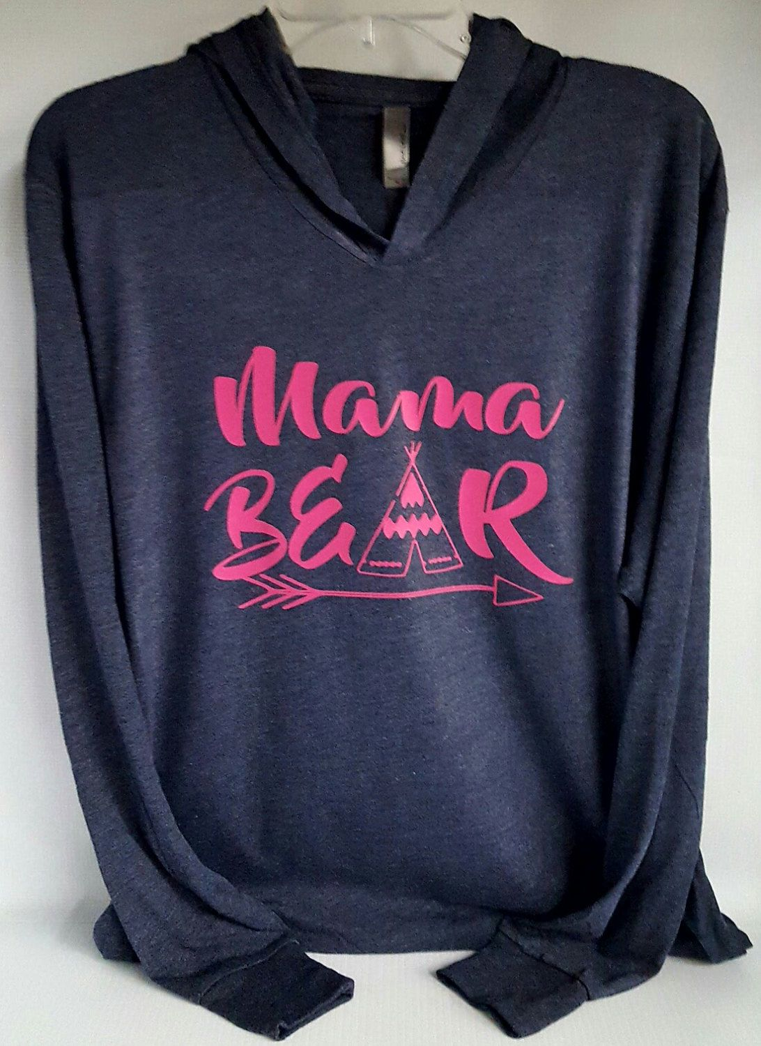 Mama Bear hoodie ,family cub shirts, mama bear,next level unisex tri-blend long sleeve t shirt hoodie.  light weight and super comfortable by luvolthings on Etsy