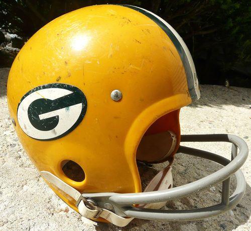 34814235 Vintage 70's Rawlings Air Flo Green Bay Packers Football Helmet ...