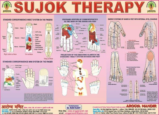 Sujok Acupressure Points Chart Acupressure Points