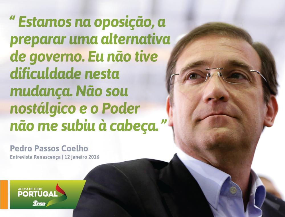Pedro Passos Coelho em entrevista à Rádio Renascença #PSD #acimadetudoportugal