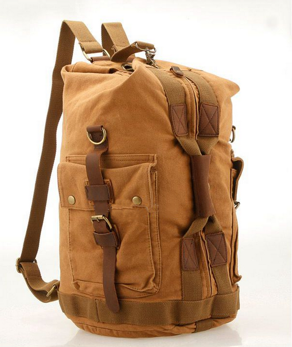 d5a22bdbdf3b Image of VINTAGE CANVAS HIKING TRAVEL MILITARY BACKPACK MESSENGER TOTE BAG  L120