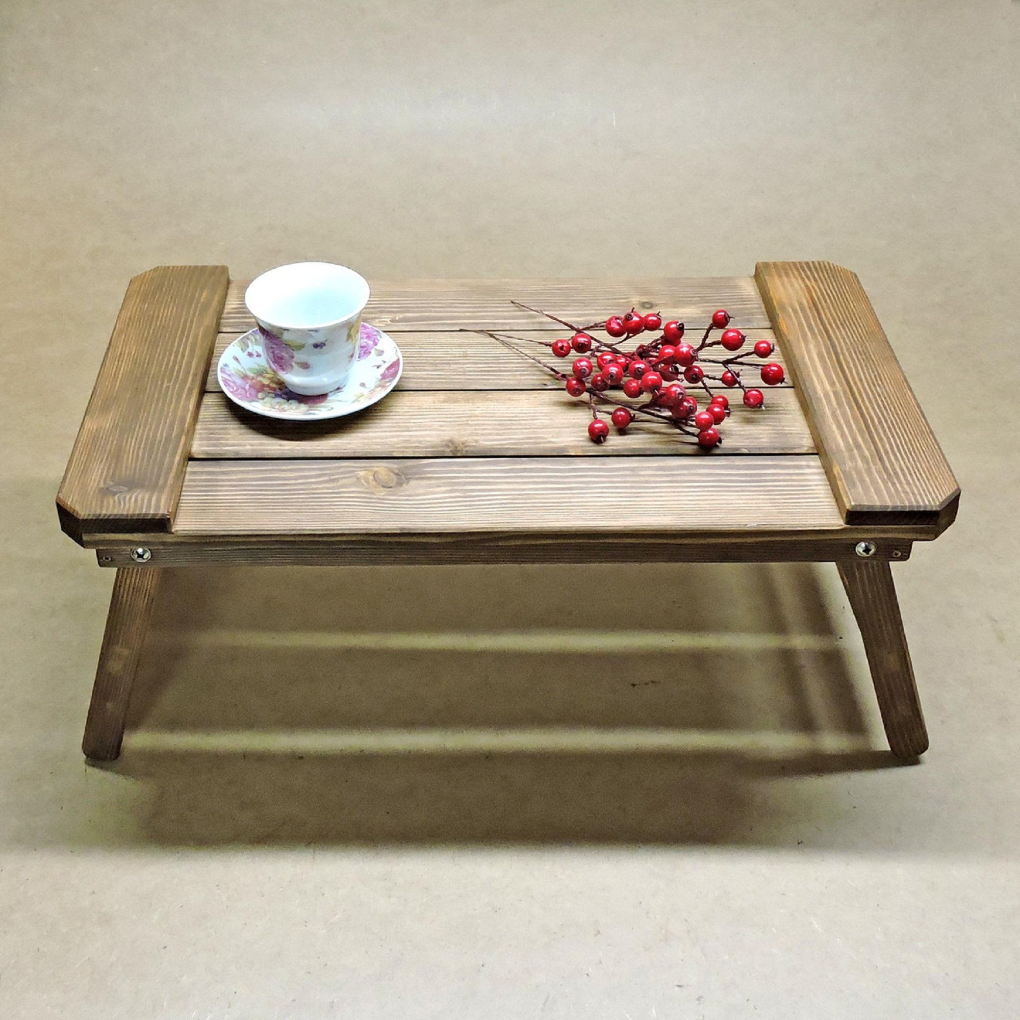 Wood Serving Tray Wooden Tray Rustic Wood Tray Food Tray Breakfast Tray Ottoman Coffee Table Bed Tray Bed Stand Folding Tray Ottoman Coffee Table Coffee Table Serving Tray Wood