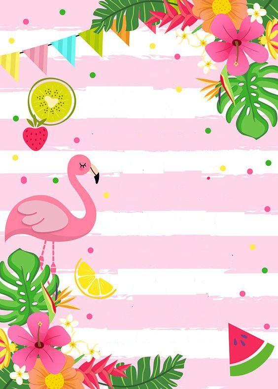 COnvite flamingo e abacaxi | festa | Pinterest | Luau ...