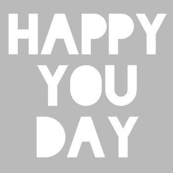 Studio Inktvis - happy you day grijs kaart (Voorzijde)
