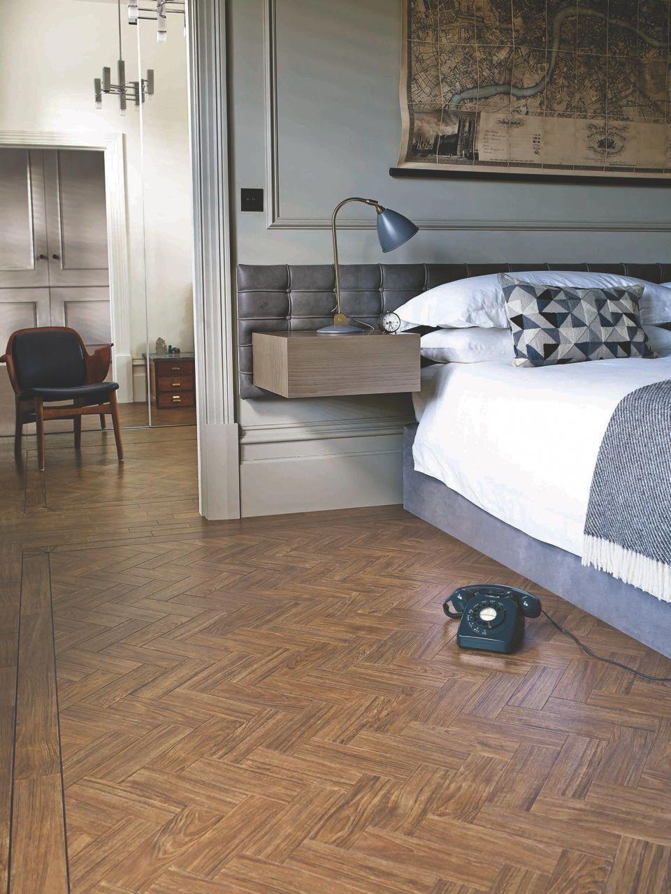 Amtico herringbone hardwoodflooringhallway Bedroom