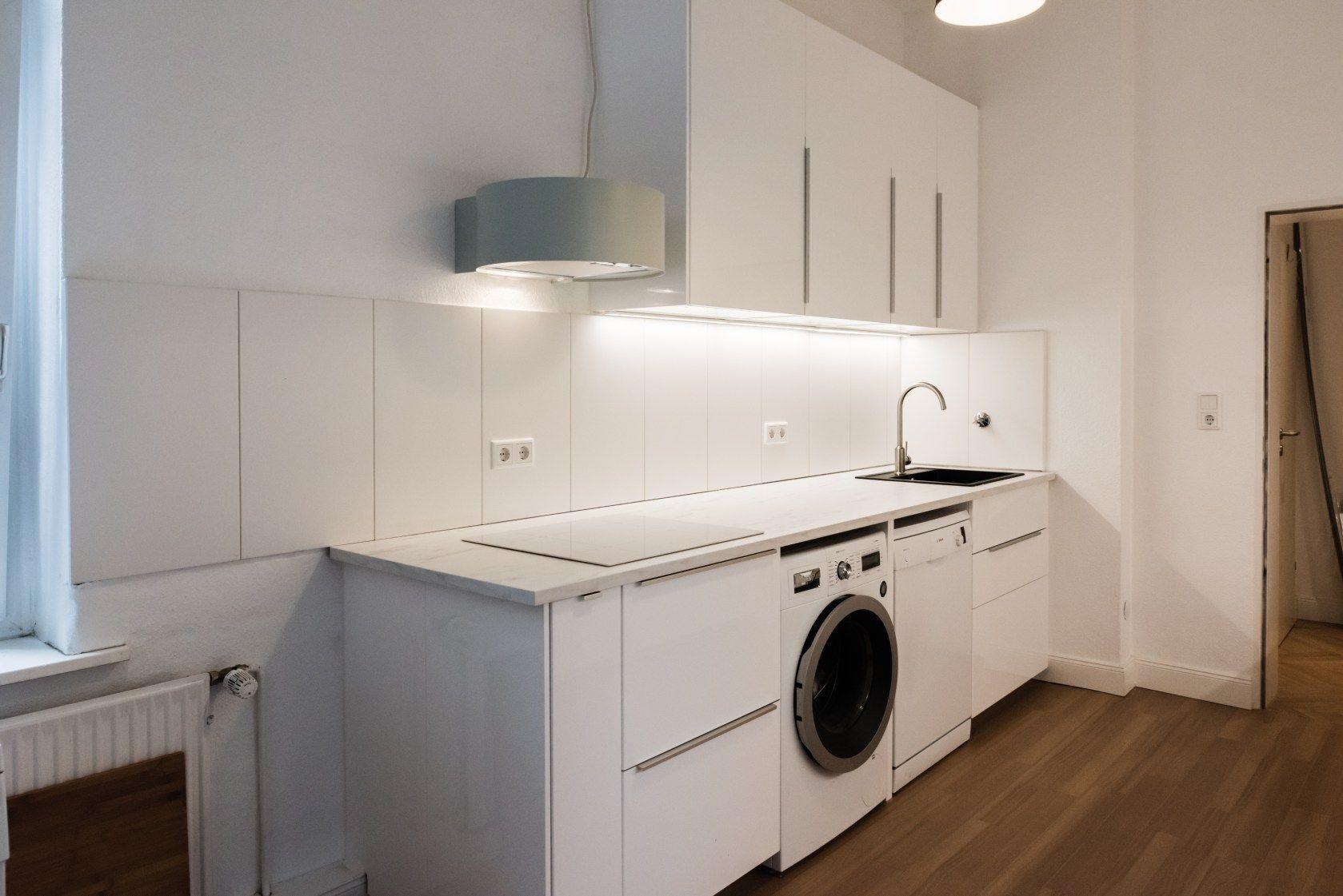 Kuchenkauf Ikea Metod Unsere Erfahrungen Ikea Metod Kitchen Ikea Laundry Washing Machine In Kitchen
