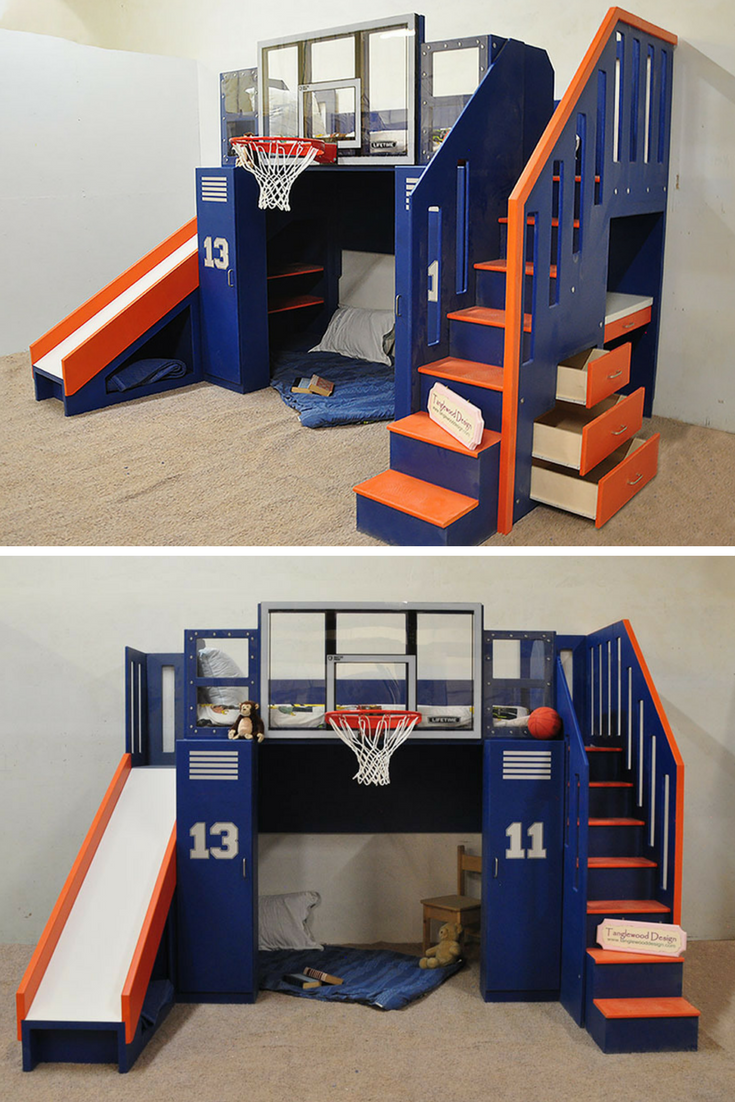 Basketball Bunk The Ultimate Bunk beds, Kid beds, Play