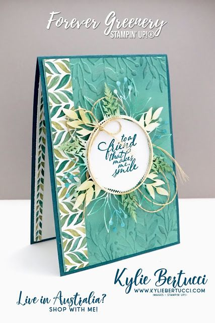 Kylie's Demonstrator Training Support Program Blog Hop May 2020 | Forever Greenery Suite - Kylie Bertucci