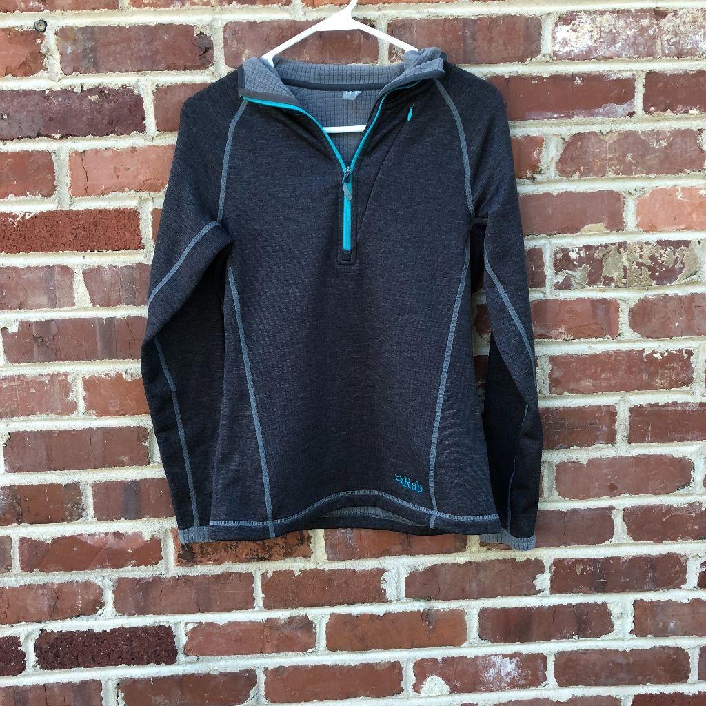 Rab Jacket 1/2 Zip Nucleus Hoodie Size 10 Pullover