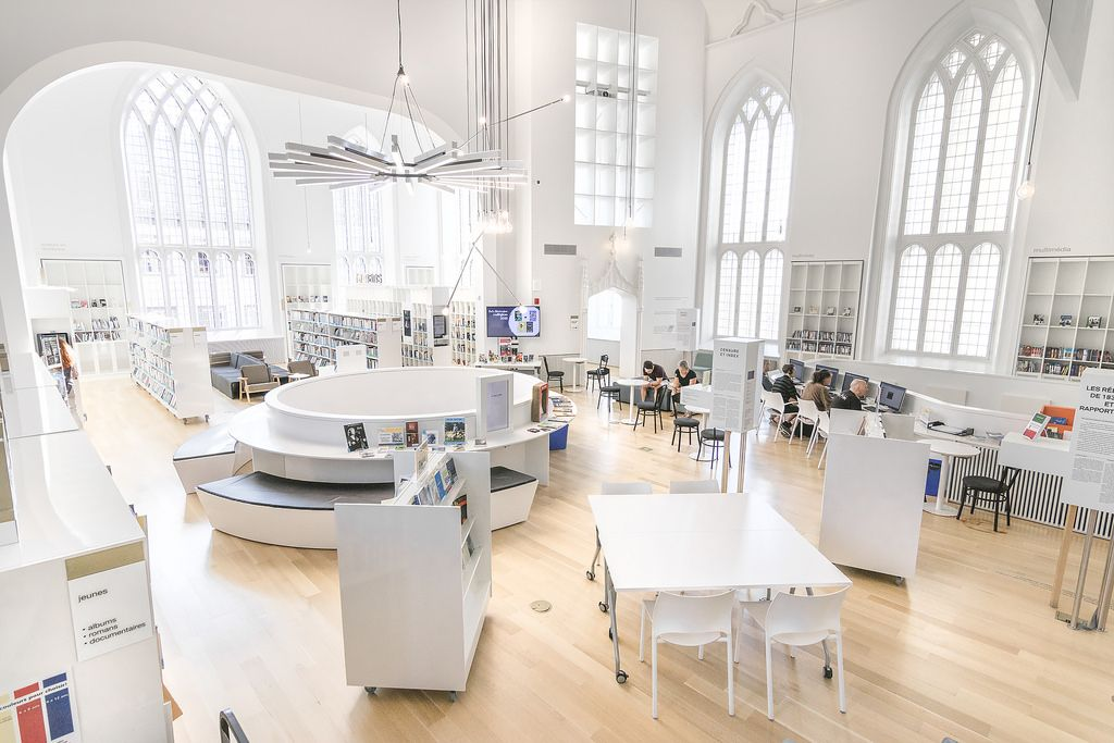 Former church transformed into  gorgeous library maison de la litterature quebec oc  roomporn also rh pinterest