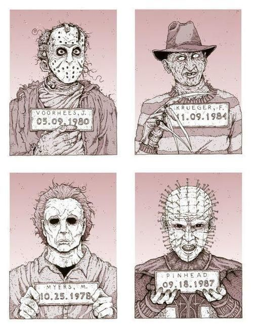 slashers again, horror characters, ultimate, comics, funny