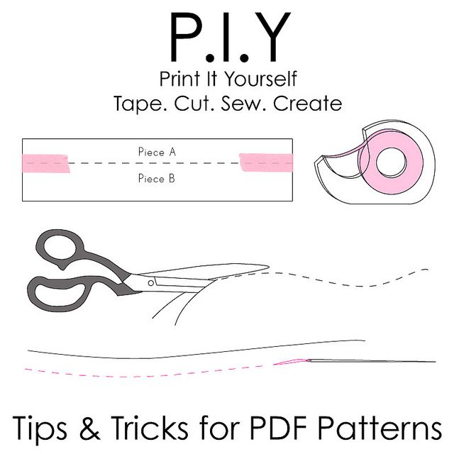 Tricks and tips for using PDF patterns {or print it