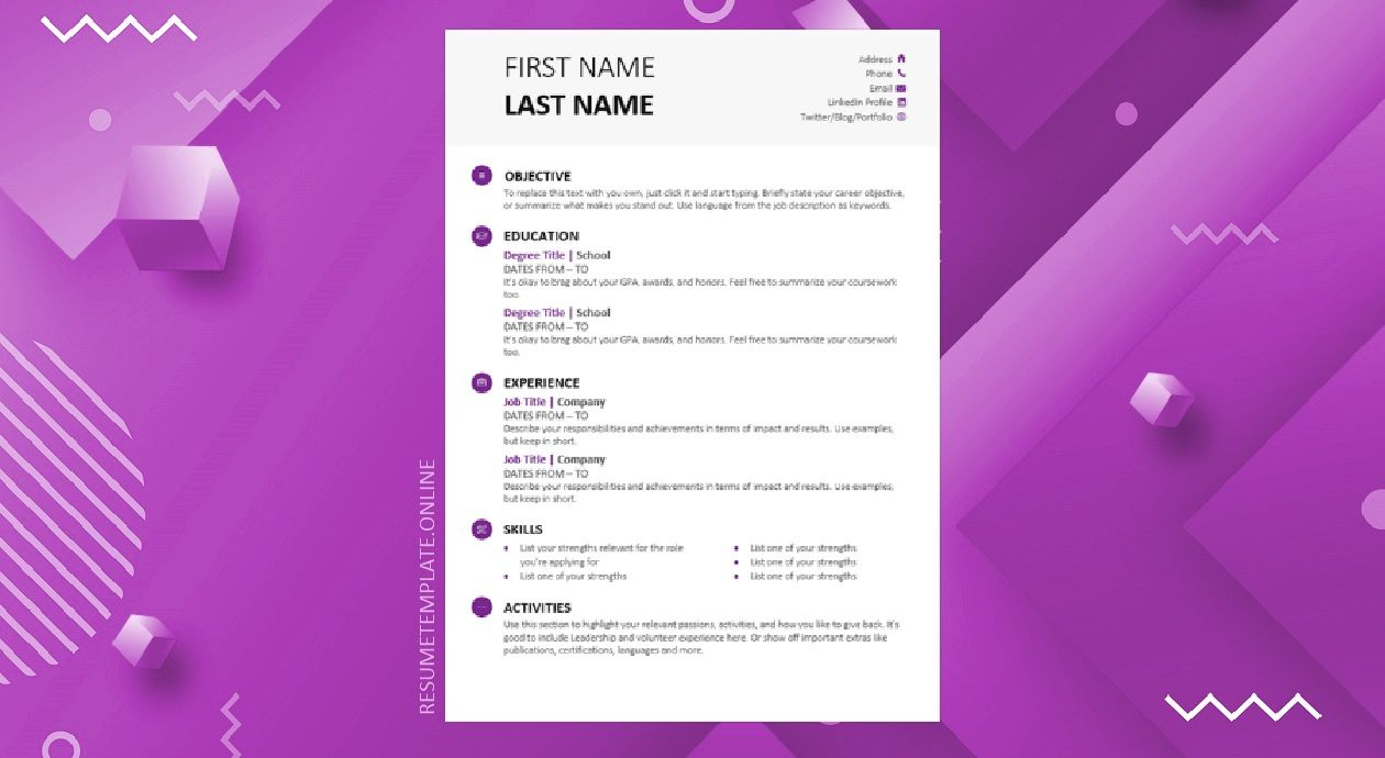 Student Resume Template Modern Student Resume Template Student Resume Template Resume Template Resume Template Free