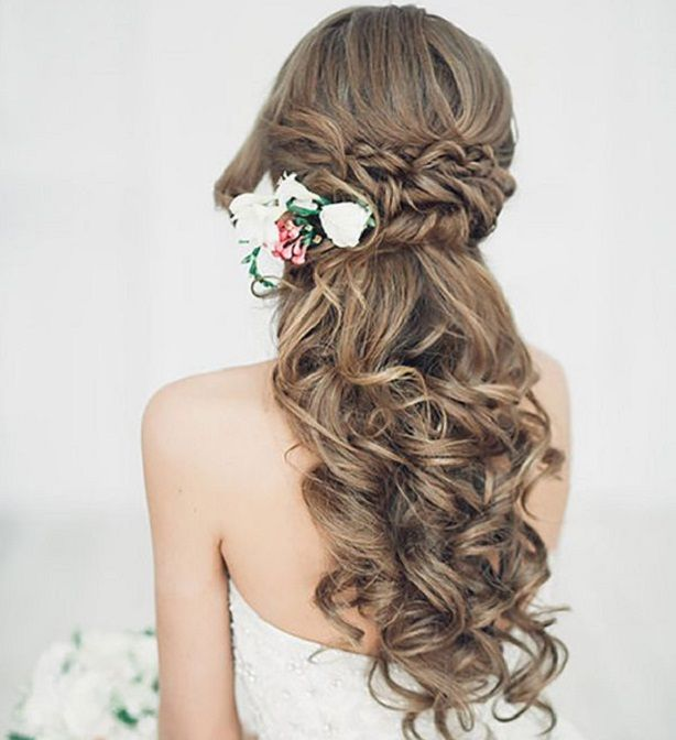 Half Up Wedding Hair Ideas: Half Up Half Down Wedding Hairstyle Inspiration