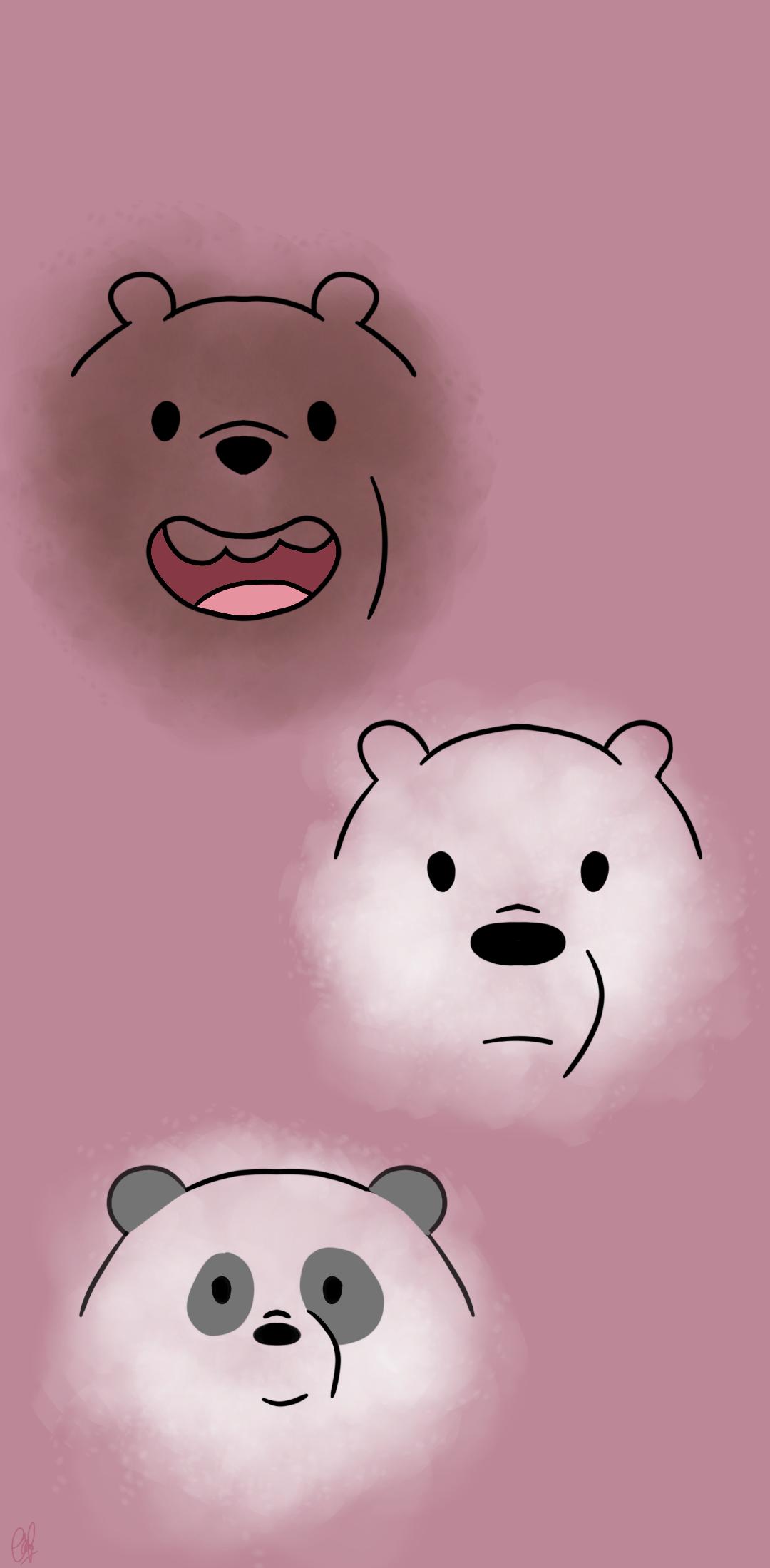Pin Oleh Madina Di We Bare Bears Ilustrasi Karakter Lukisan Keluarga Kartun