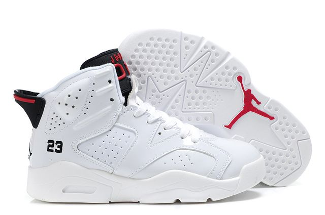 Nike Air Jordan 6 Kids Shoes Cheap Sale White at www.GoodCheapNike.com