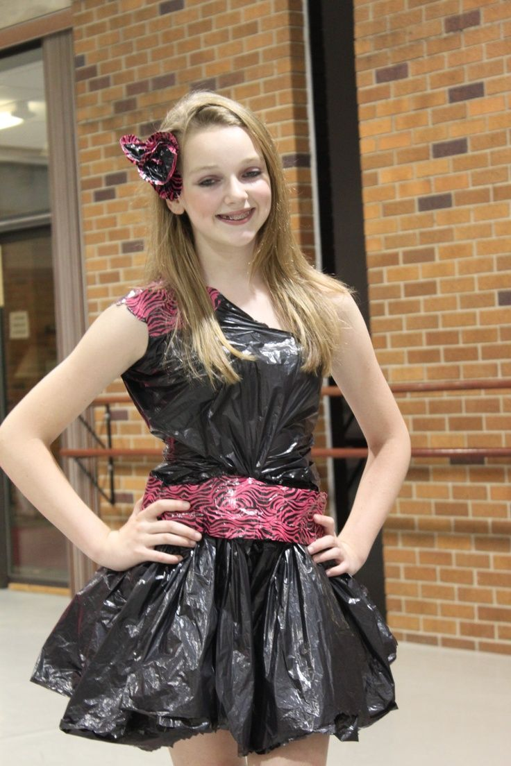 trash bag dress Google Search Recycled dress, Crazy