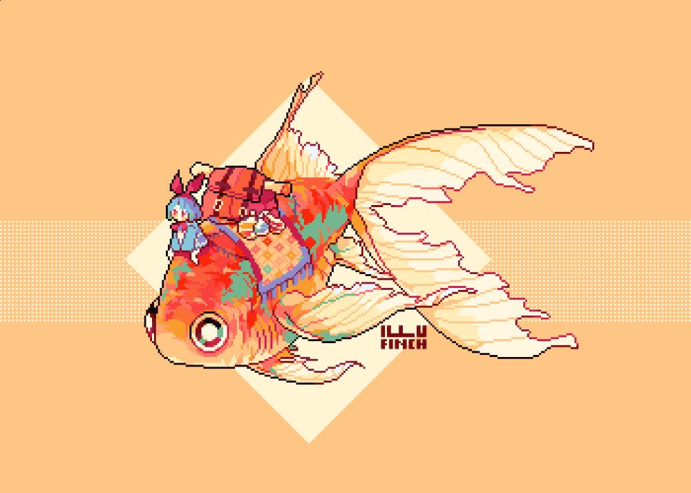 Finch Comms Open On Twitter Goldfish Art Goldfish Art Illustrations Ride Drawing