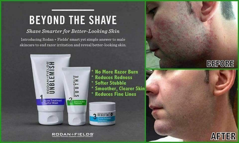 Does Your Husband Complain About Razor Burn After Shaving Did You Know That Rodan And Fields Has A Rodan And Fields My Rodan And Fields Rodan Fields Skin Care