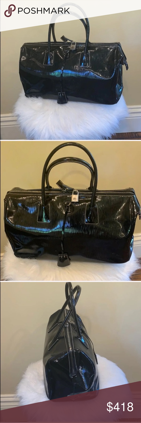 Photo of Authentic patent leather Prada bag Comes with authenticity card, mint condition….
