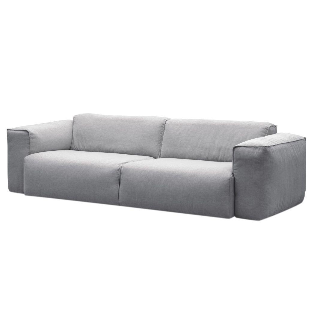 Sofa Hudson II (3-Sitzer) - Webstoff - Stoff Saia Hellgrau, Studio ...