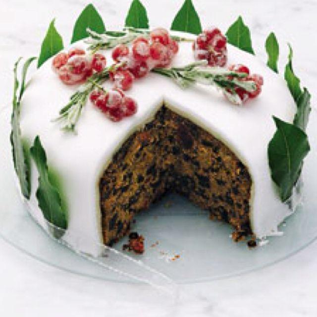 english christmas dessert recipes English Christmas Cake  Christmas cake recipes, Christmas food