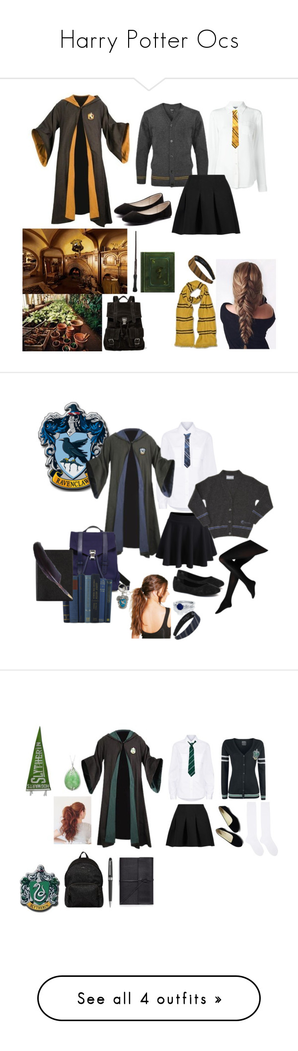 """Harry Potter Ocs"" by gladers4ever on Polyvore featuring Moschino, T By Alexander Wang, Verali, Proenza Schouler, Public School, Jellypop, WithChic, Boohoo, Smythson and Warner Bros."