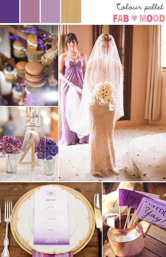 Radiant Orchid Lavender Gold Wedding Colors Purple Gold Wedding