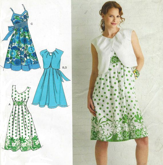 Plus Size Womens Dress with Bodice Variations & Bolero OOP ...