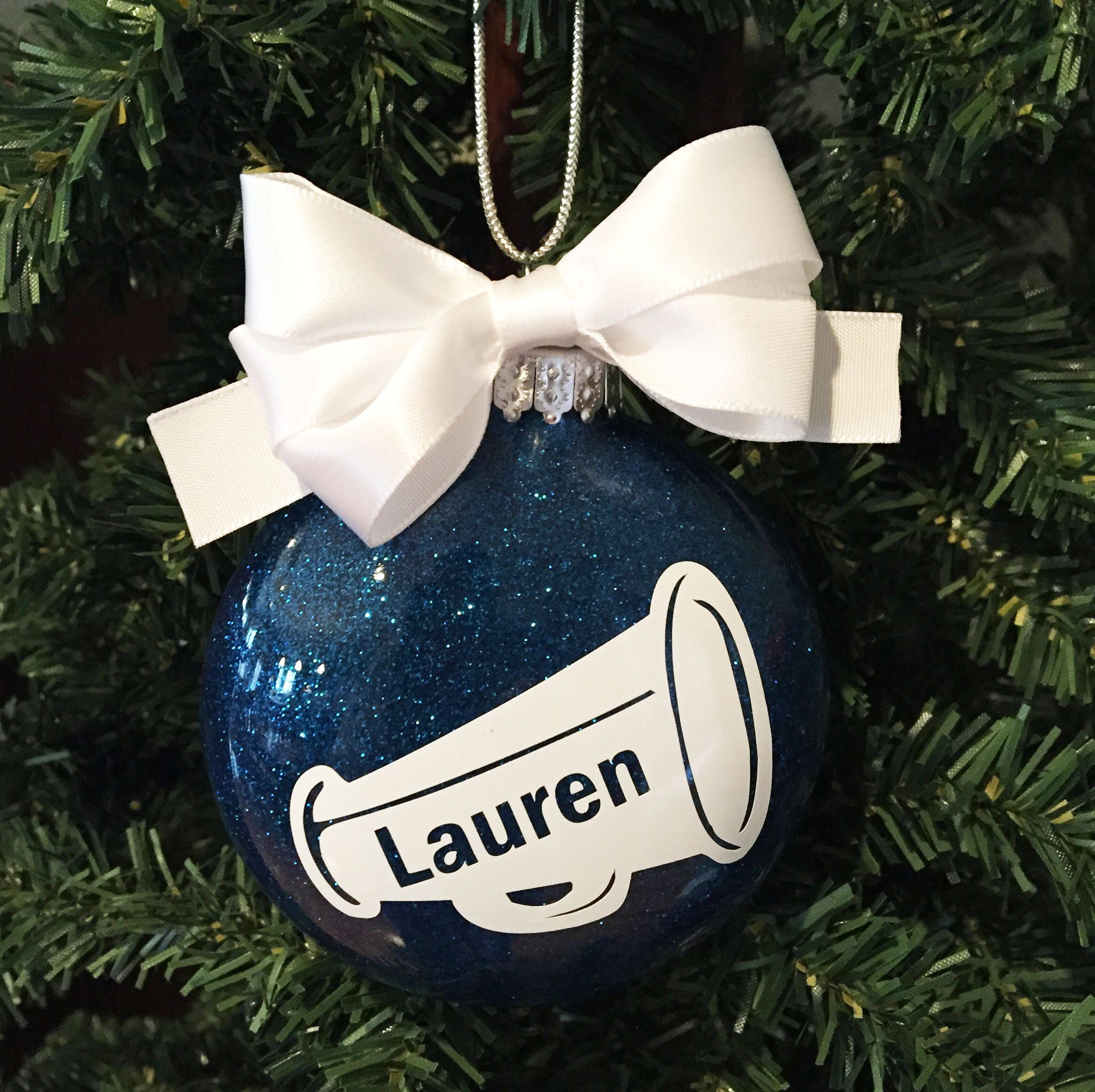 Personalized Cheerleader Ornament Cheer Christmas Ornament Etsy Cheerleading Gifts Cheer Coach Gifts Cheer Gifts Diy