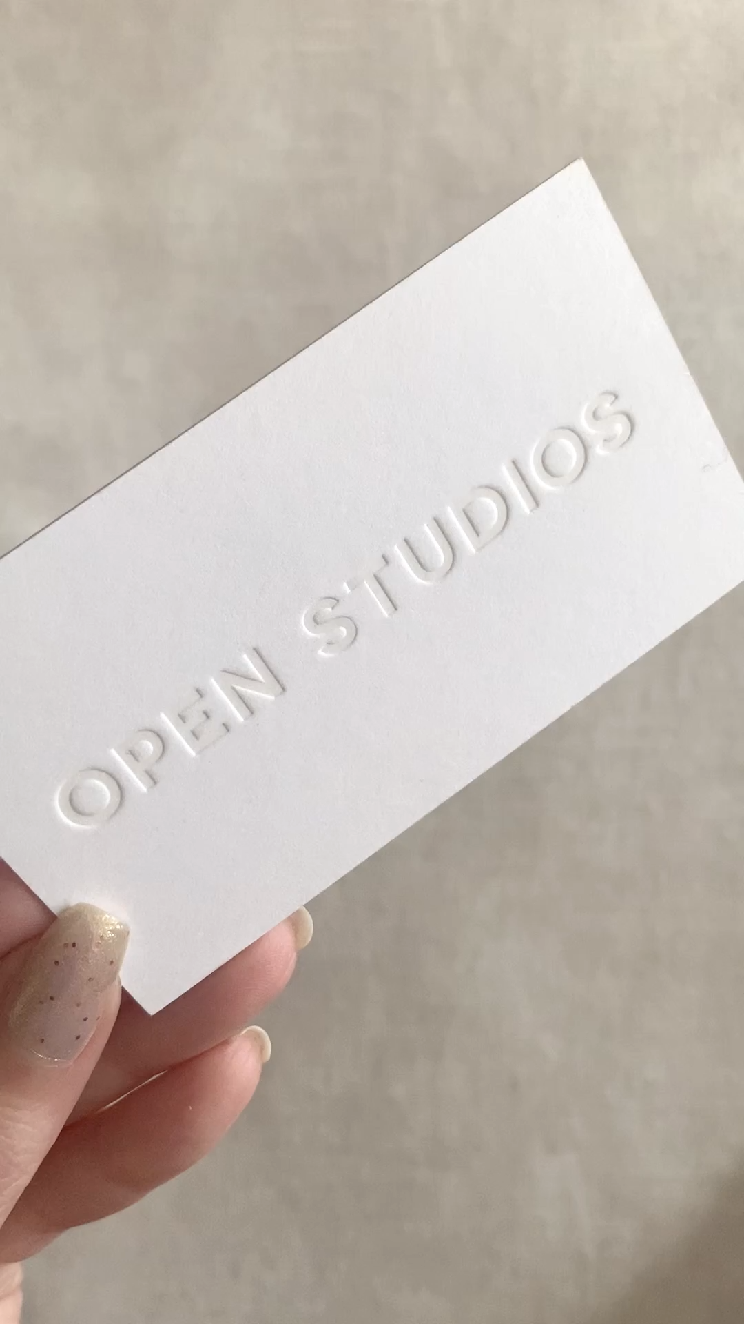Blind Embossing Business Cards Video Graphic Design Business Card Minimalist Business Cards Letterpress Business Cards