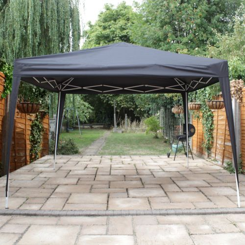 CanoUp-3x3-Black-Heavy-Duty-Pop-Up-Gazebo-Canopy-Garden