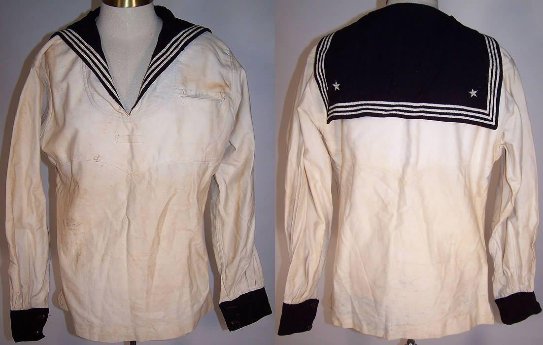 U.S. Navy - example of white sailor's uniform
