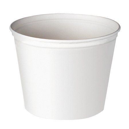 Solo Cup Company Double Wrapped Paper Bucket, Waxed, White