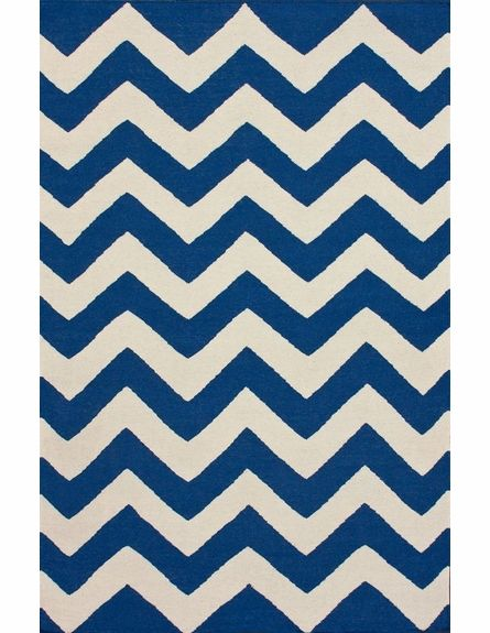 Navy Chevron Rug Would Look Great In Any Room
