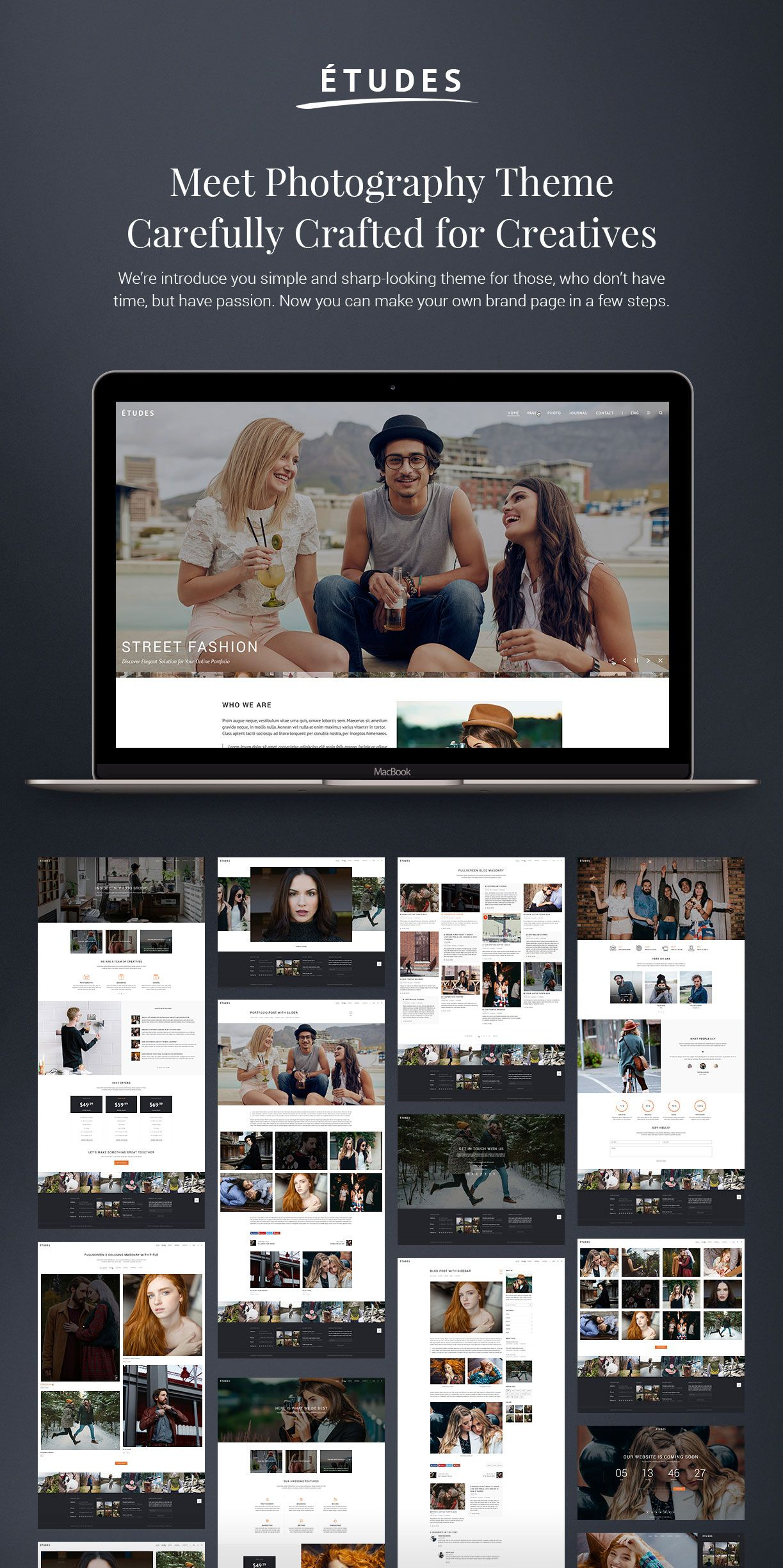 Premium Photography WordPress Theme - Etudes