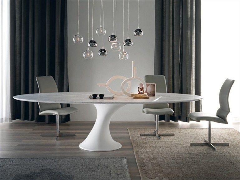 Mesa óvala de Cristalplant® REEF by Cattelan Italia diseño Piero