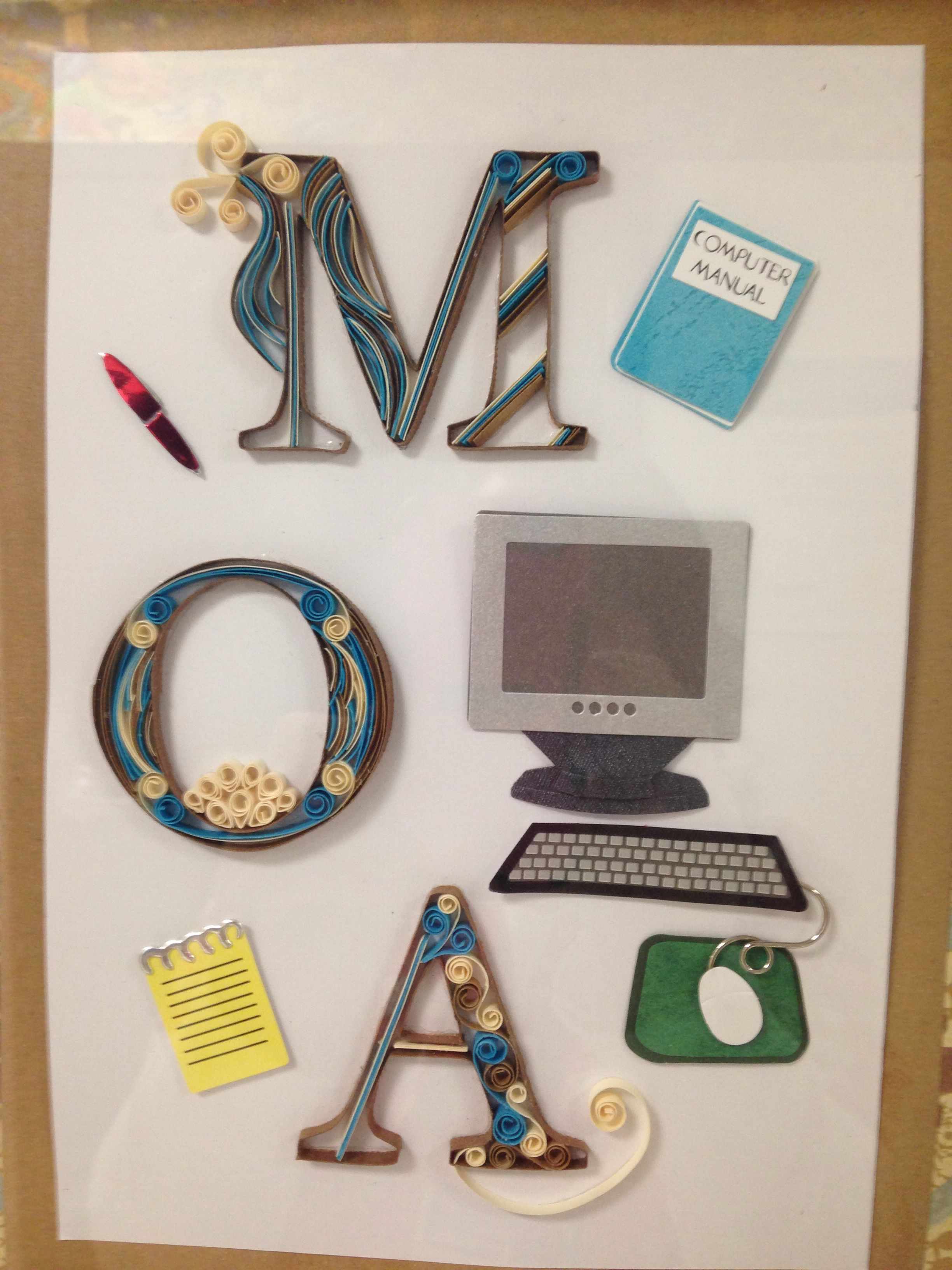 Medical office assistant quilling monogram office