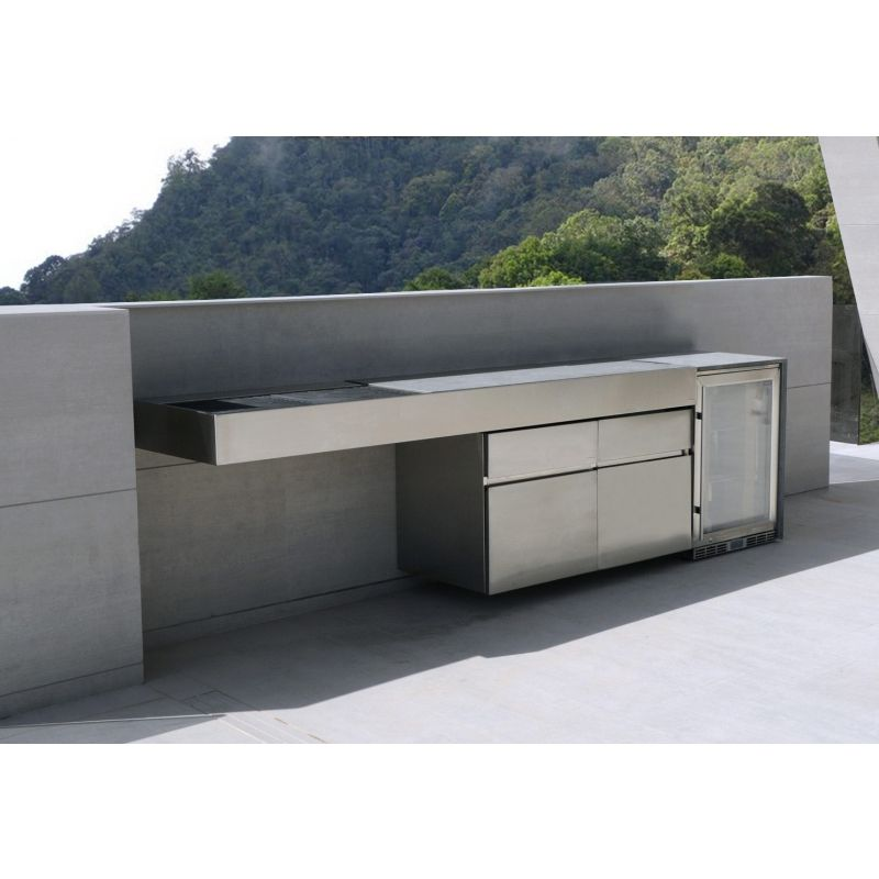 Fesfoc outdoor k hlschrank 50 60 edelstahl satiniert for Kitchen gadgets barcelona