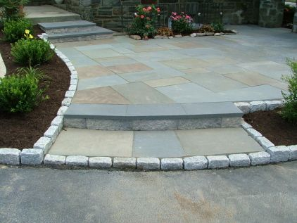 Superb Paver Trim To Flag Stone Patio