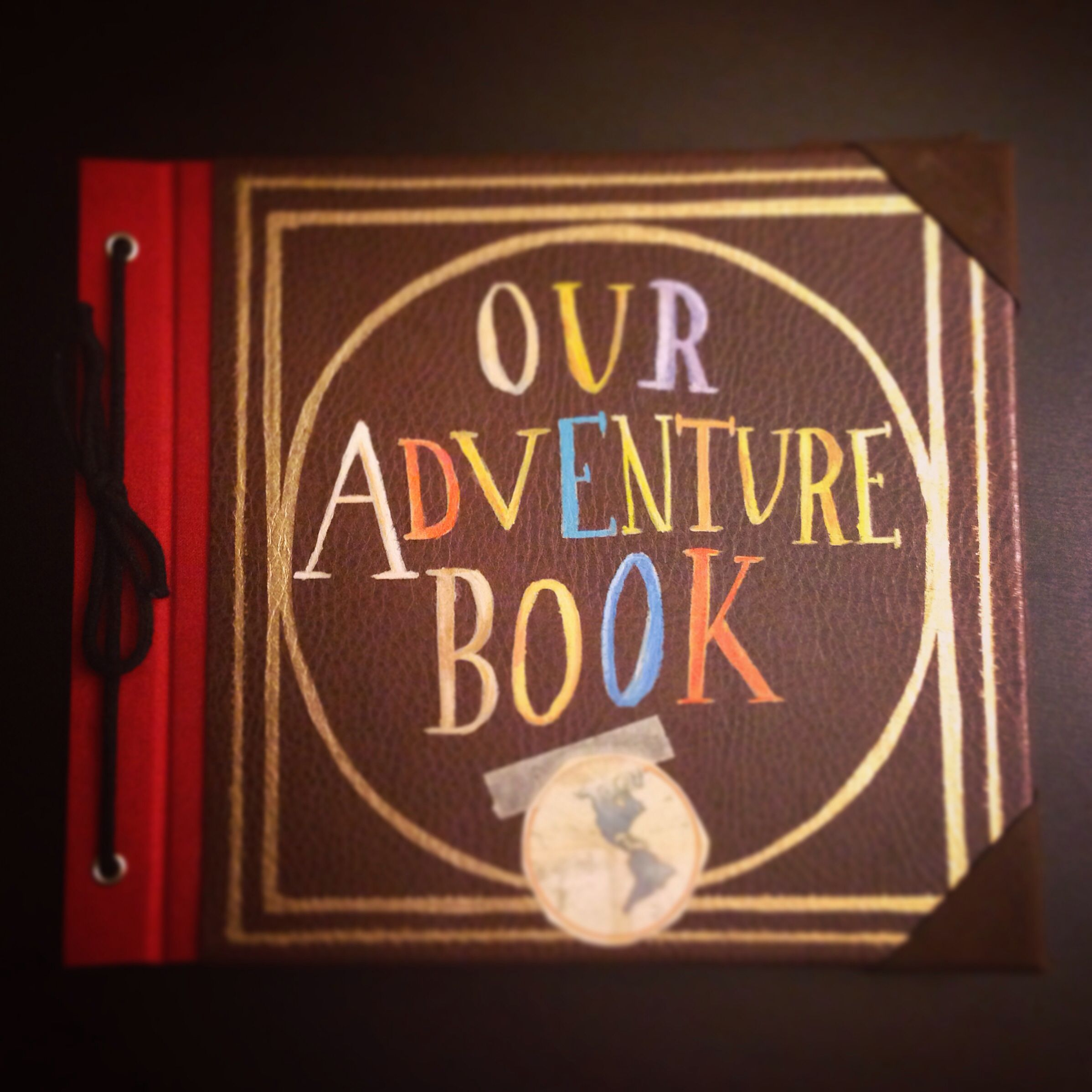 Our Adventure Book Cover Diy : Diy our adventure book from up just need paint and a