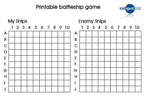 Image result for printable battle ship Vacation Pinterest Math