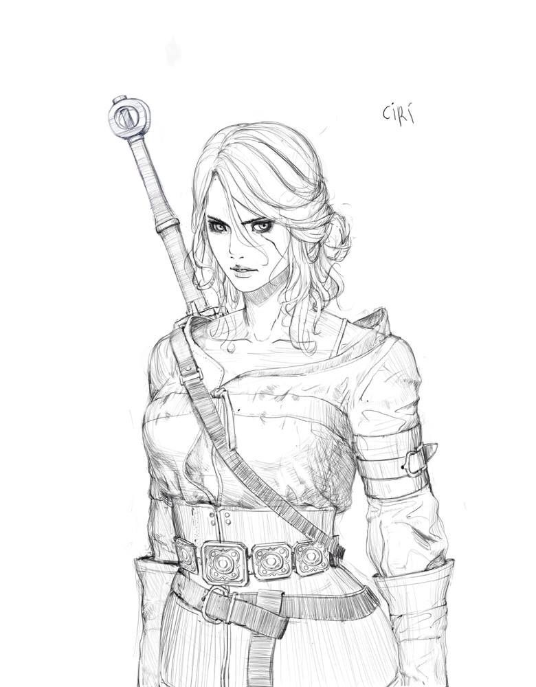 Witcher 3 Ciri By Hyunwook Chun With Images Character Art