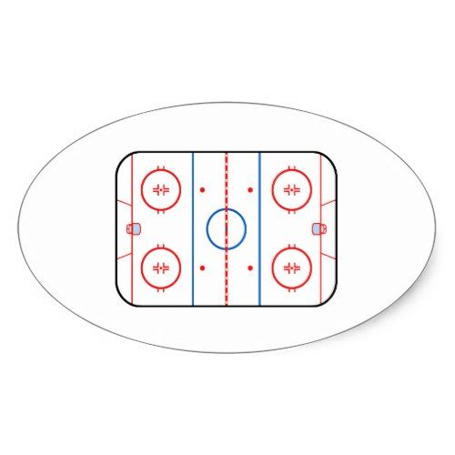 Ice Rink Diagram Hockey Game Companion Oval Sticker Zazzle Com Game Design Gaming Decor Hockey Games