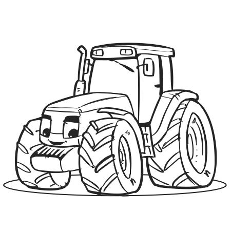 Dessin gros tracteur a colorier a faire gros tracteur - Coloriage tracteur en ligne ...