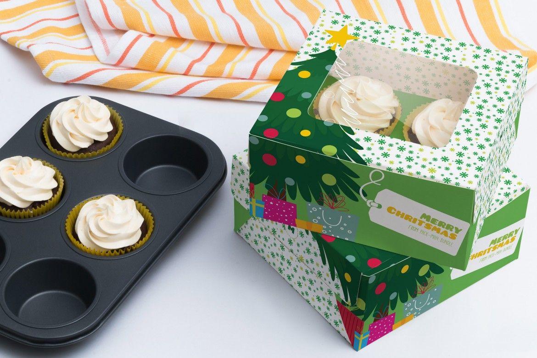 Download Four Cupcake Box Mockup 02 By Ktyellow On Original Mockups Box Mockup Cupcake Boxes Mockup