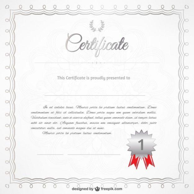Free Vector Certificate Template Free Vector Printable Pinterest