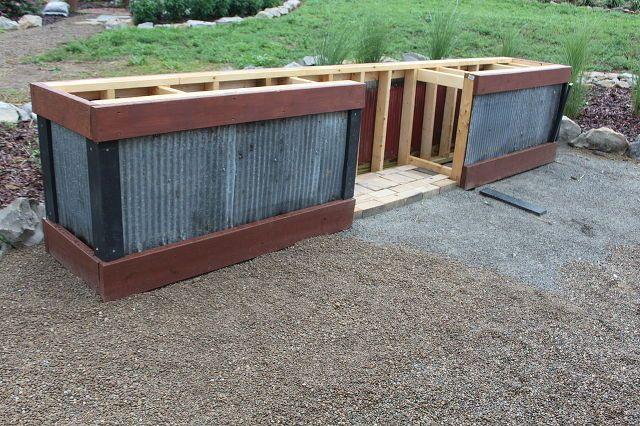 Corrugated Metal Siding On Outdoor Kitchen Outdoor Grill Area Outdoor Kitchen Design Diy Outdoor Kitchen