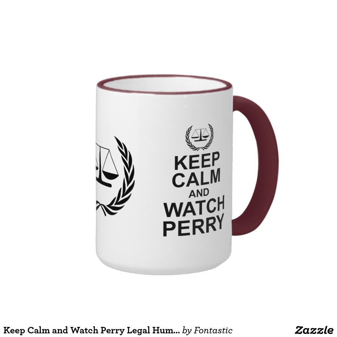Keep Calm and Watch Perry Legal Humor Ringer Coffee Mug #PerryMason