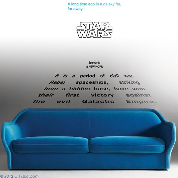 Star Wars Decal A New Hope Crawl Quote Long Time Ago In Galaxy Far Away Kids E